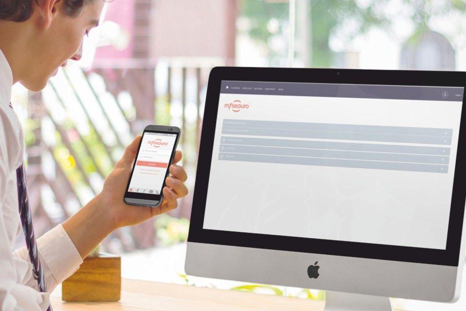 mYseguro em browser ou através da App
